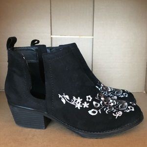 Olivia Miller Embroidered Bootie